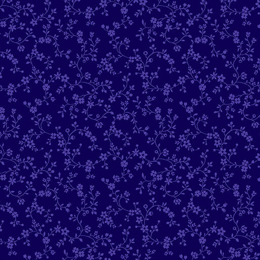 Color Theory - Flowery Vines - Navy
