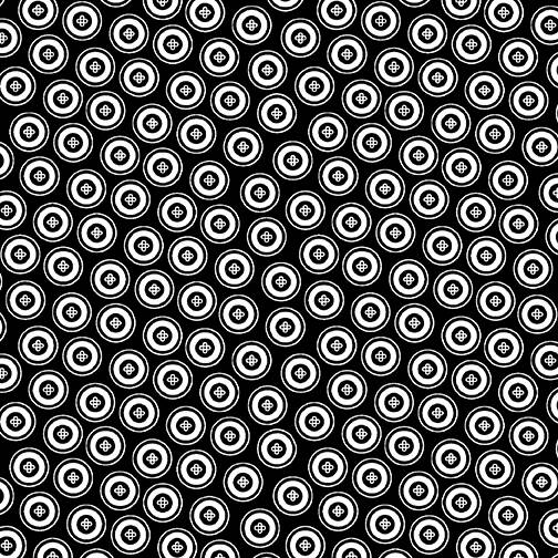 Night And Day - Dotty Buttons - Black White