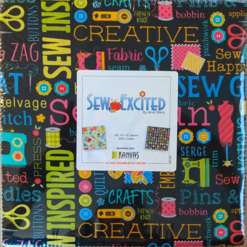 Sew Excited - 10x10 inch - EXC10PK