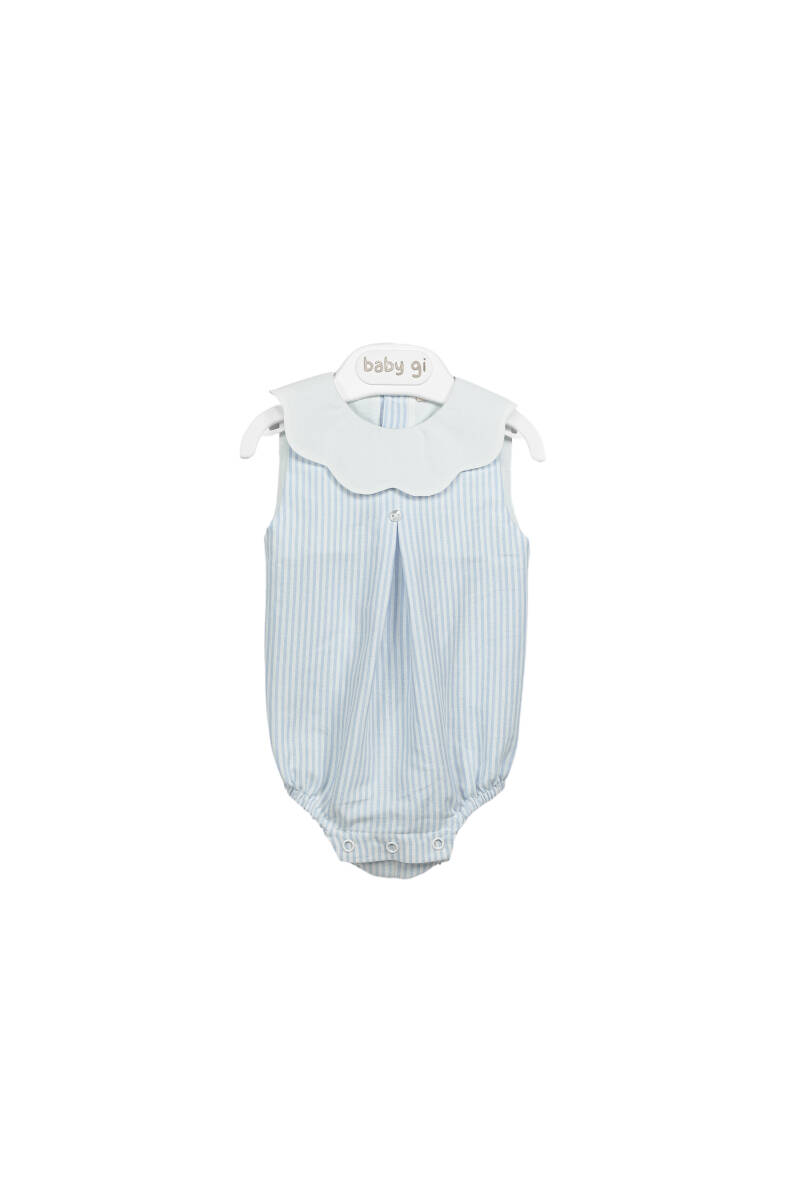 Romper Frilly detail blue sky 12 maand