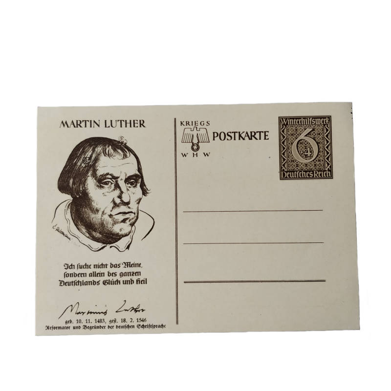 WWII WHW postkaart Martin Luther