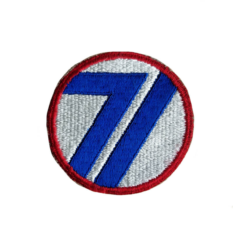 WWII US patch 71e infanterie divisie