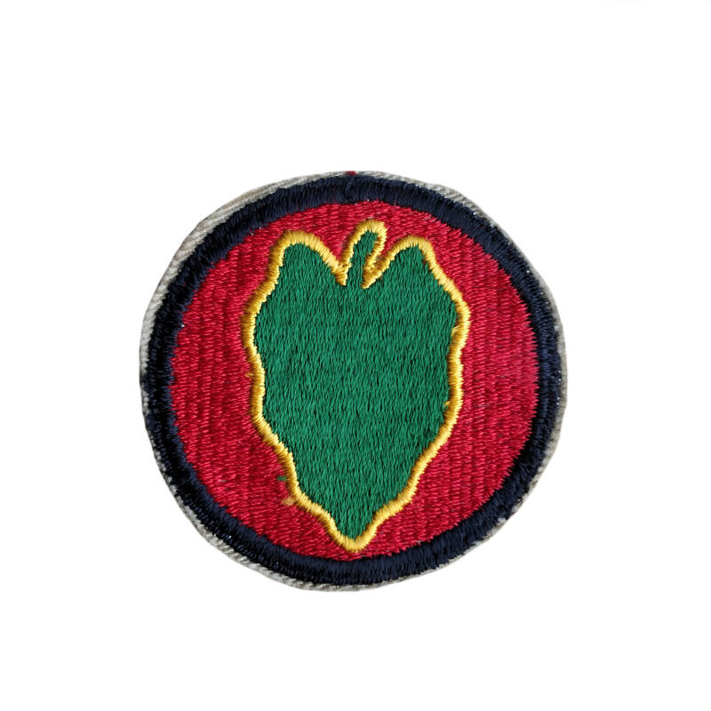 WWII US patch 24e infanterie divisie