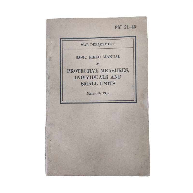 WWII US field manual protection