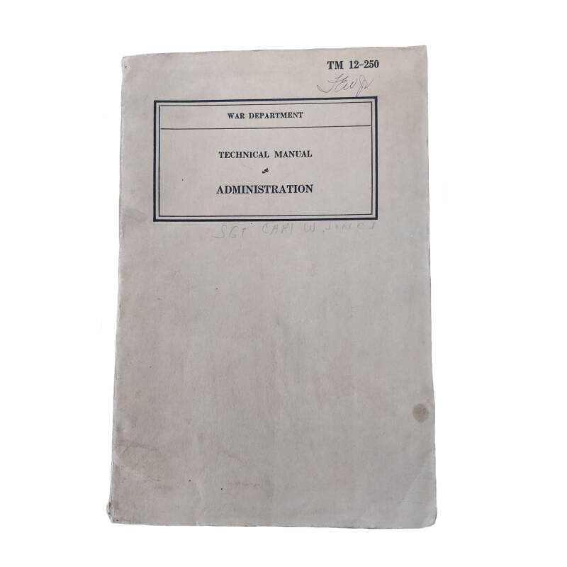 WWII US field manual administration