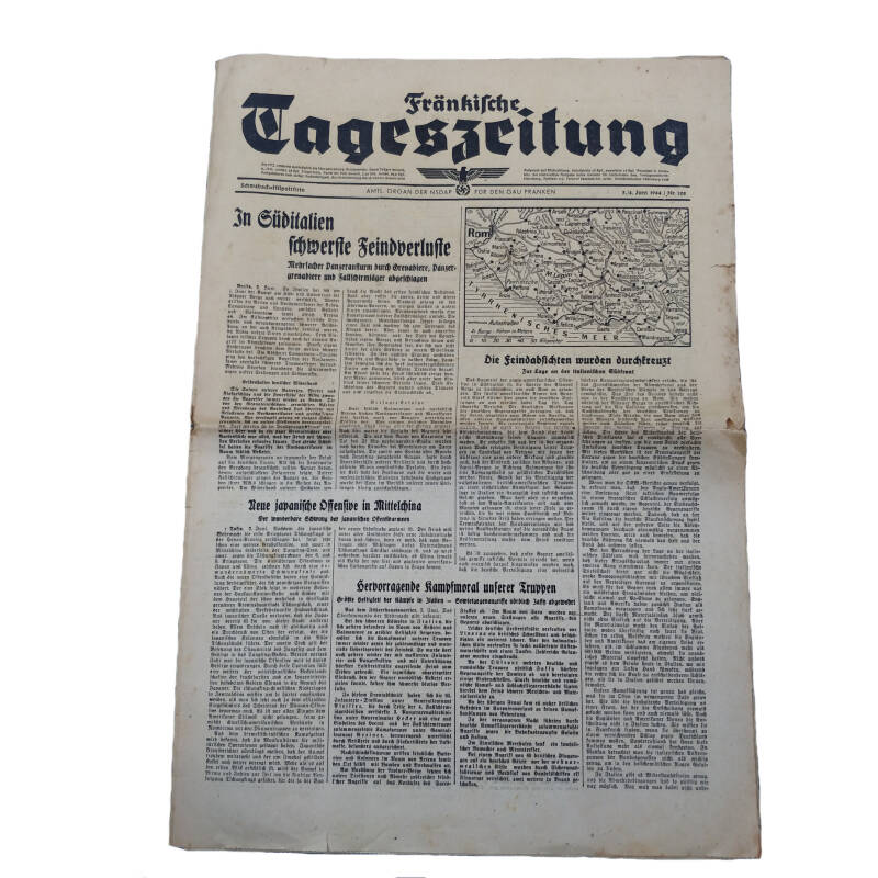 WWII Duitse krant tageszeitung