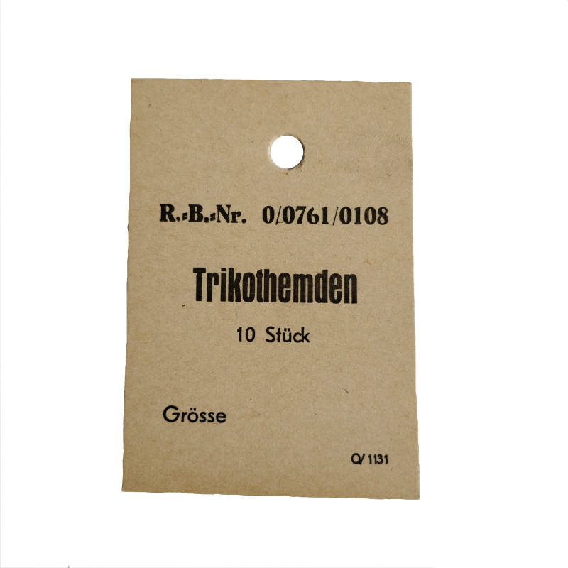 WWII Duits Trikothemd label