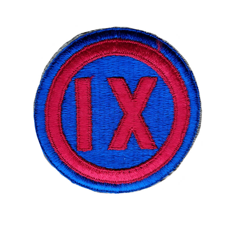 WWII US patch 9th corps