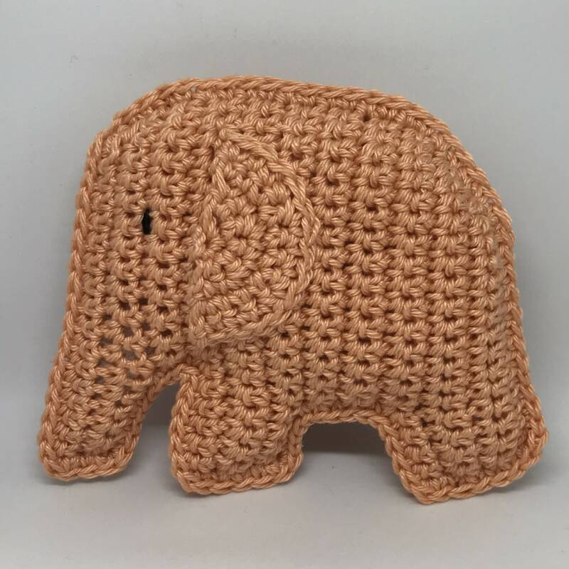 Gehaakte Olifant Apricot