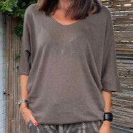 Top Elize taupe/bruin