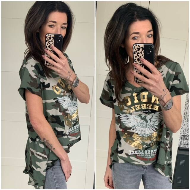 T-shirt Army look