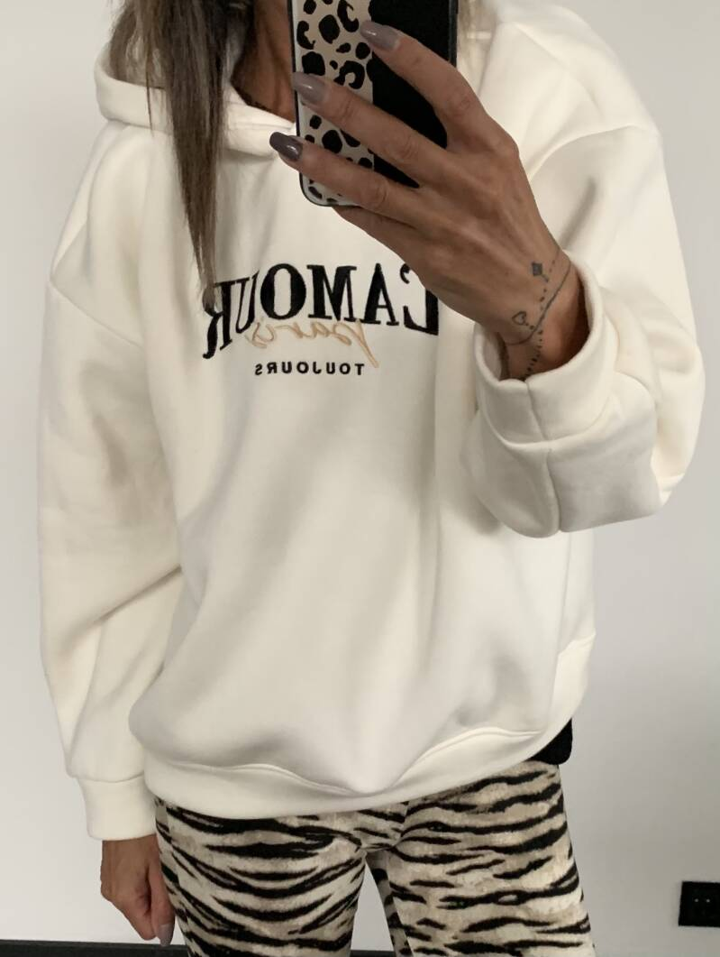 Hoody Amour wit