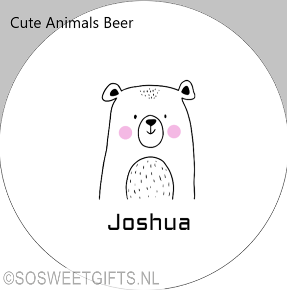 Kinderbordje Serie Cute Animals Beer