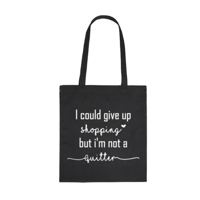 Tas Could give up shopping
