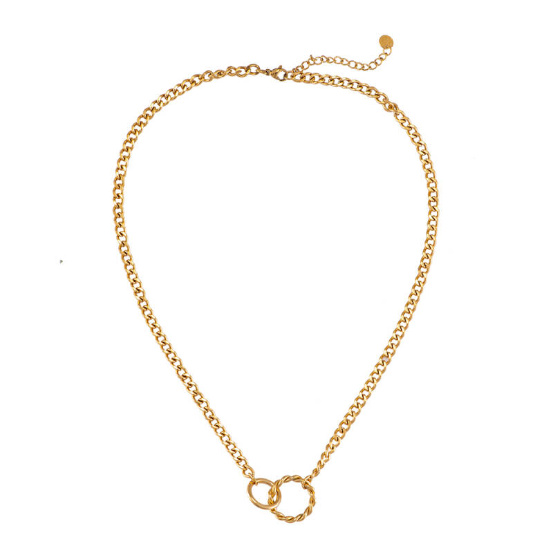 Ketting Connected Circles - Goud
