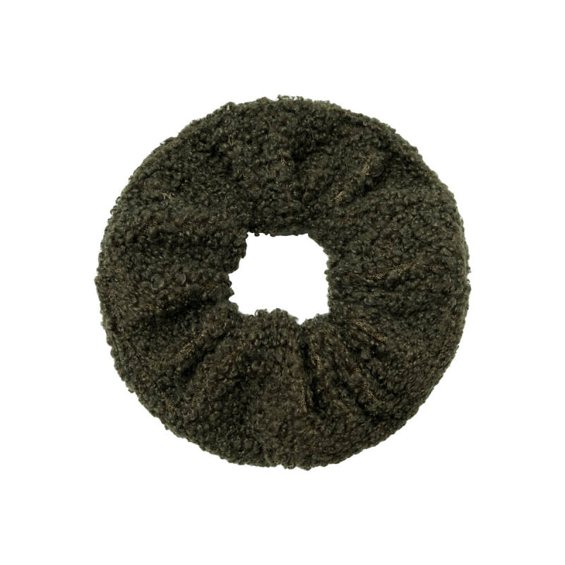 Scrunchie Soft Teddy Groen