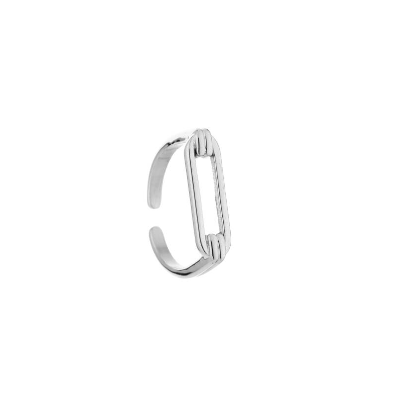 Ring Ovale Opening - Zilver
