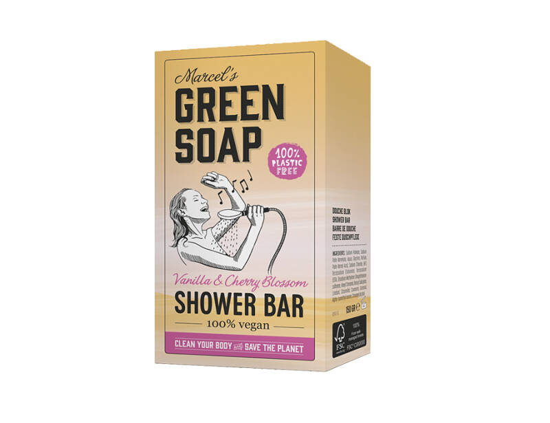 Vegan Shower Bar - Vanille & Kersenbloesem - 150g