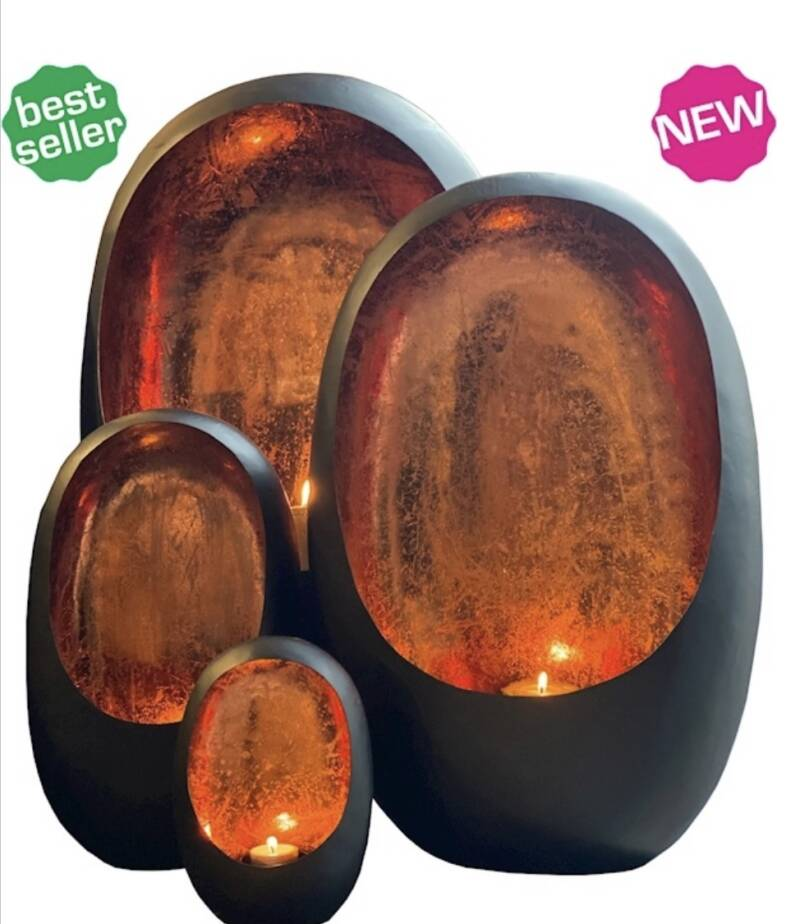 Rapa Egg copper finish candles S4