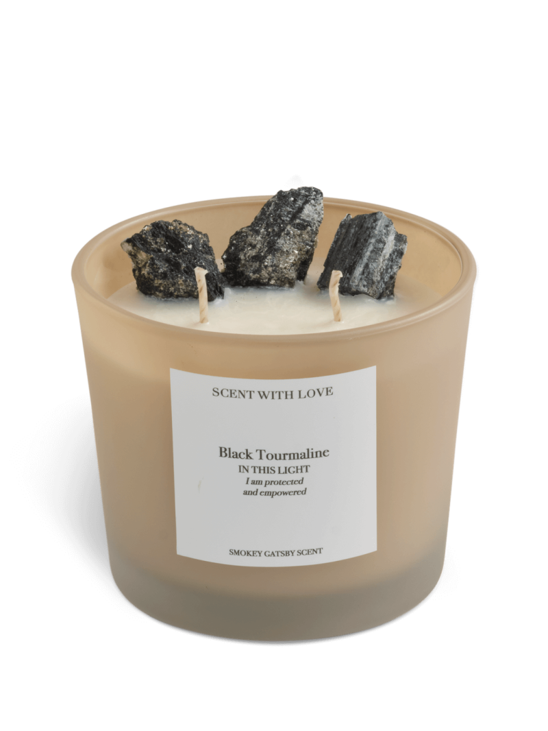 Black Tourmaline Candle   Scent With Love