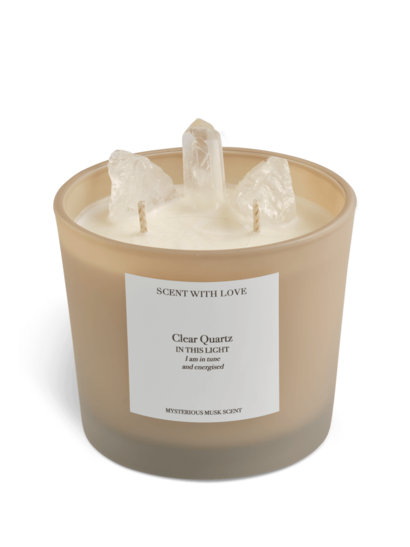 Clear Quartz Candle | Scent With Love