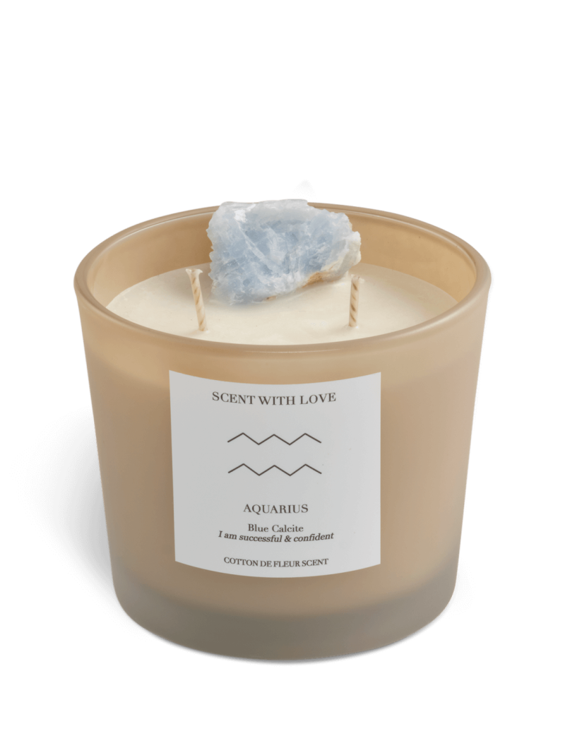 Zodiac Candle   Waterman   Scent With Love