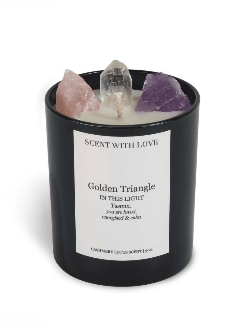 Golden Triangle Candle Black   Scent With Love