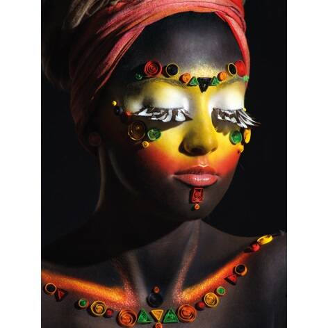 Plexiglas woman with makeup