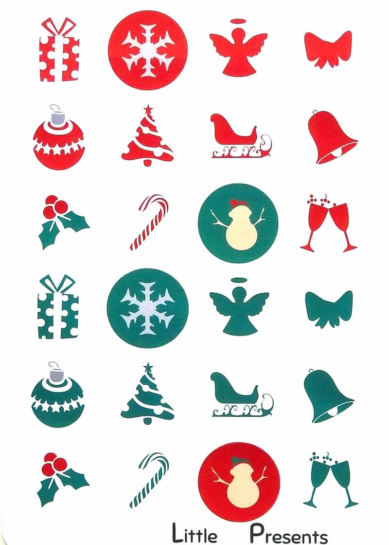 Stickers Kerst rond