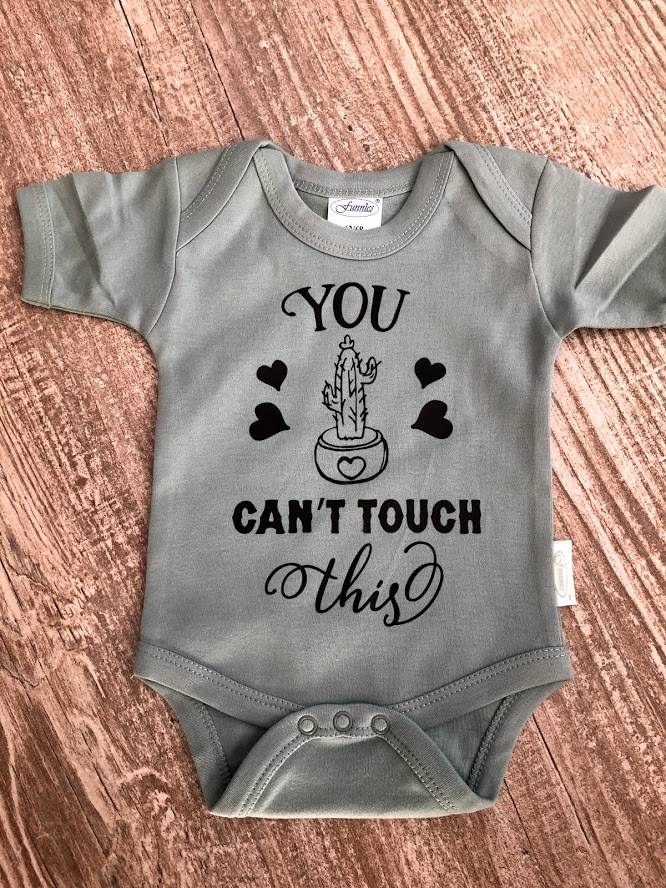 "Romper ""You can't touch this"""