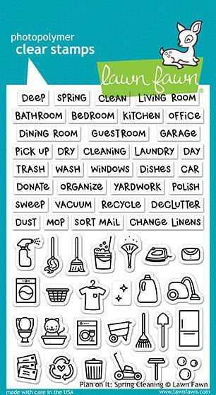 Lawn Fawn, Plan on it: Spring Cleaning Clear stamps