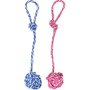 Flamingo cotton rope + knotted ball