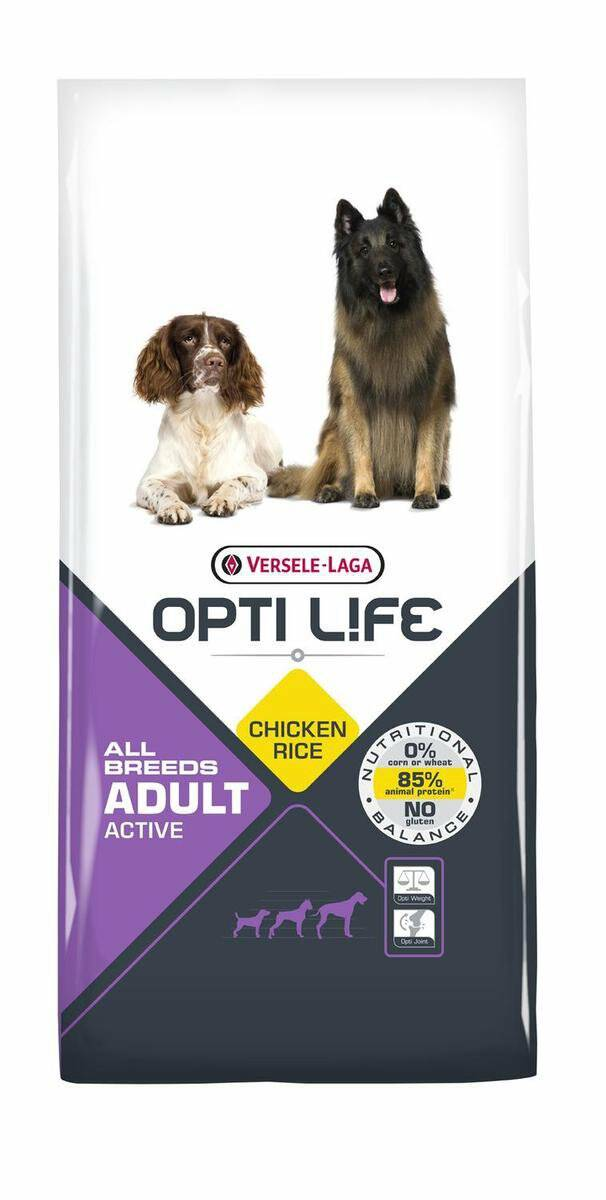 Opti Life Adult Active All Breeds 12.5 kg