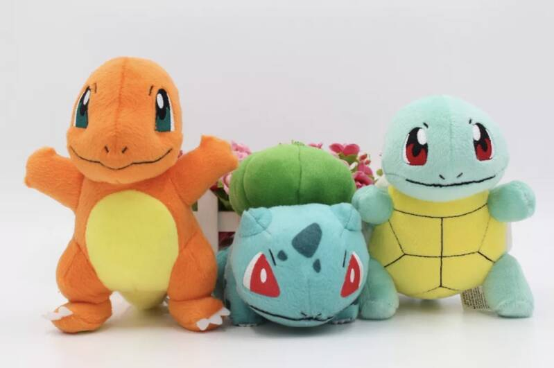 Charmander bulbasaur squirtle Pokemon knuffels set