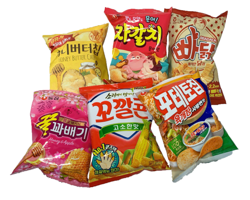 Koreaanse 6 verschillende chips try out