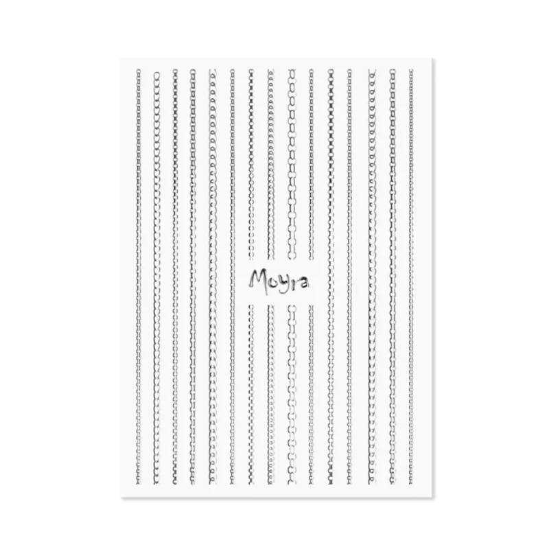 Moyra Chain strips no2 Silver