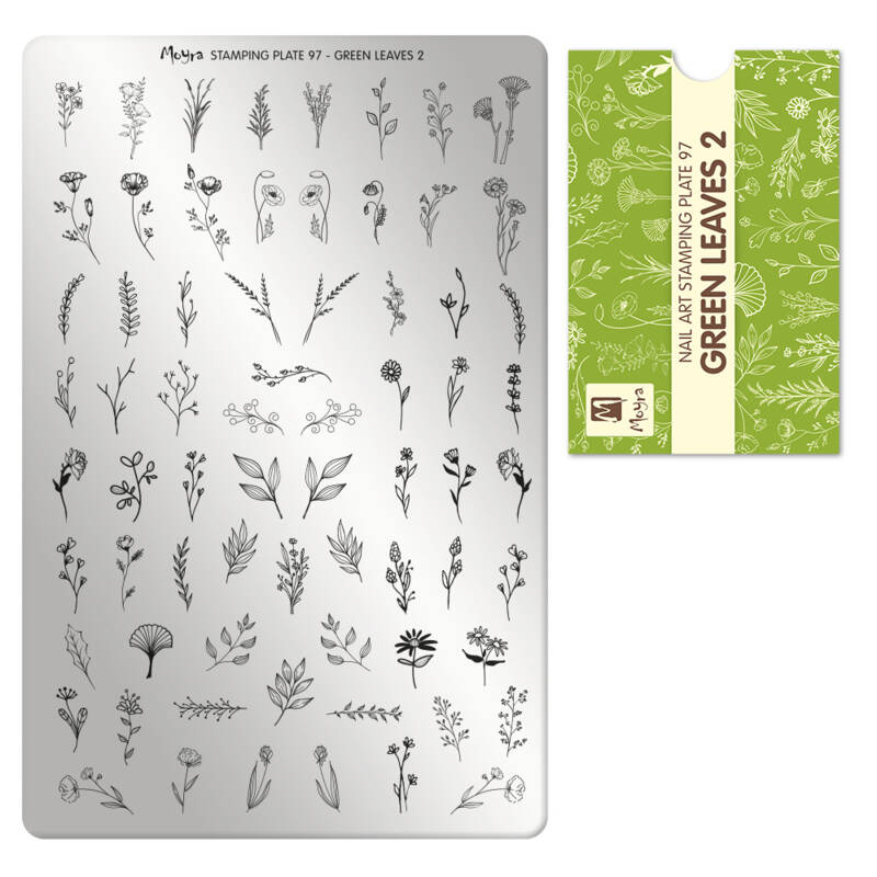 Moyra Stamping Plate 97 : Green Leaves 2