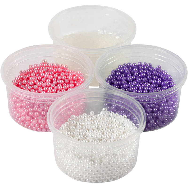 Pearl Clay®, 3x25 gr wit, paars, roze 78715