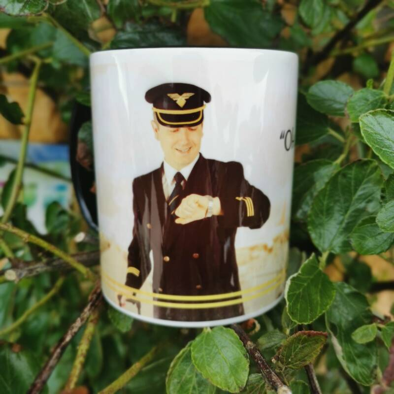 """The """"Oh..it's gin o'clock"""" Limited Edition Aviation Themed Mug!"""