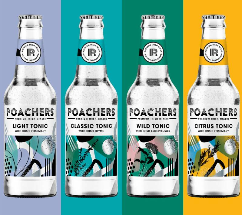 Poachers Premium Tonic (4 pack-varied flavors) to mix with Runway28Gin