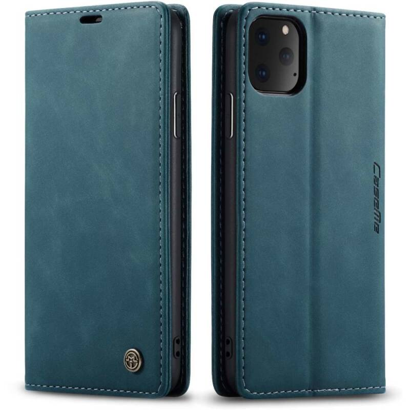 Booktype Retro Wallet Slim hoesje voor de iPhone 11 - Blauw