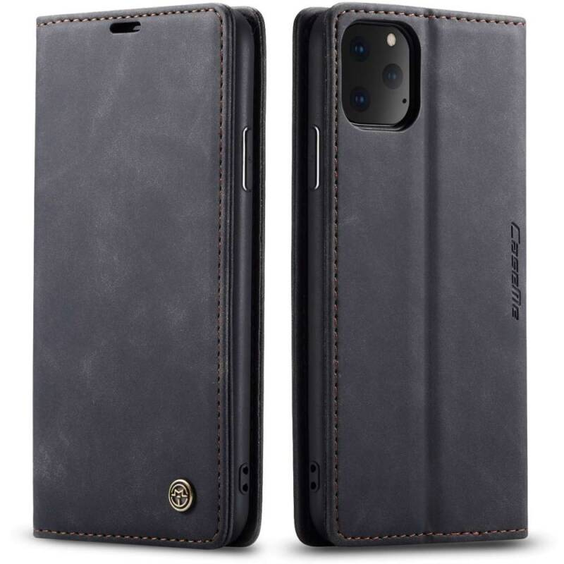 Booktype Retro Wallet Slim hoesje voor de iPhone 11 Pro Max - Zwart