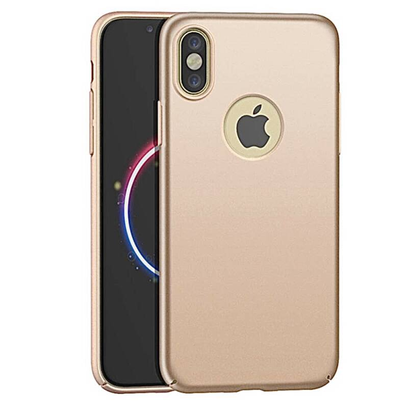 Gold backcover, hoesje voor de iPhone X / Xs - Goud