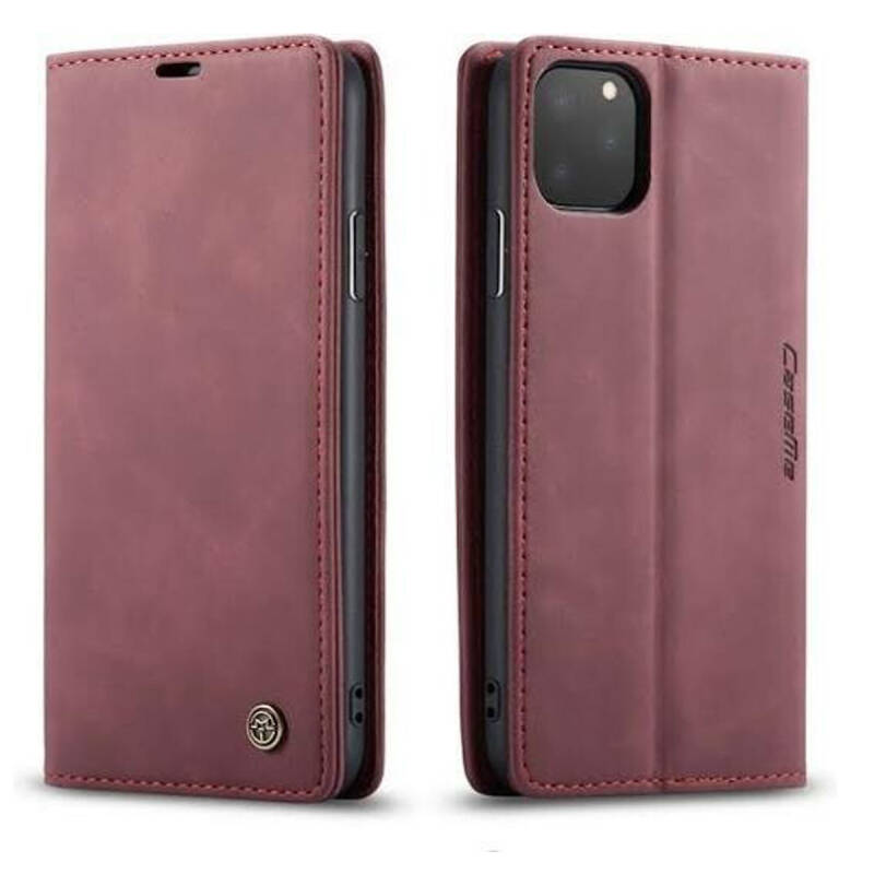 Caseme Retro Wallet Slim Booktype hoesje voor de iPhone 11 Pro Max - rood (wine red)
