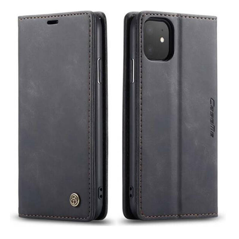 Caseme Retro Wallet Slim Booktype hoesje voor de iPhone 12 Mini - zwart