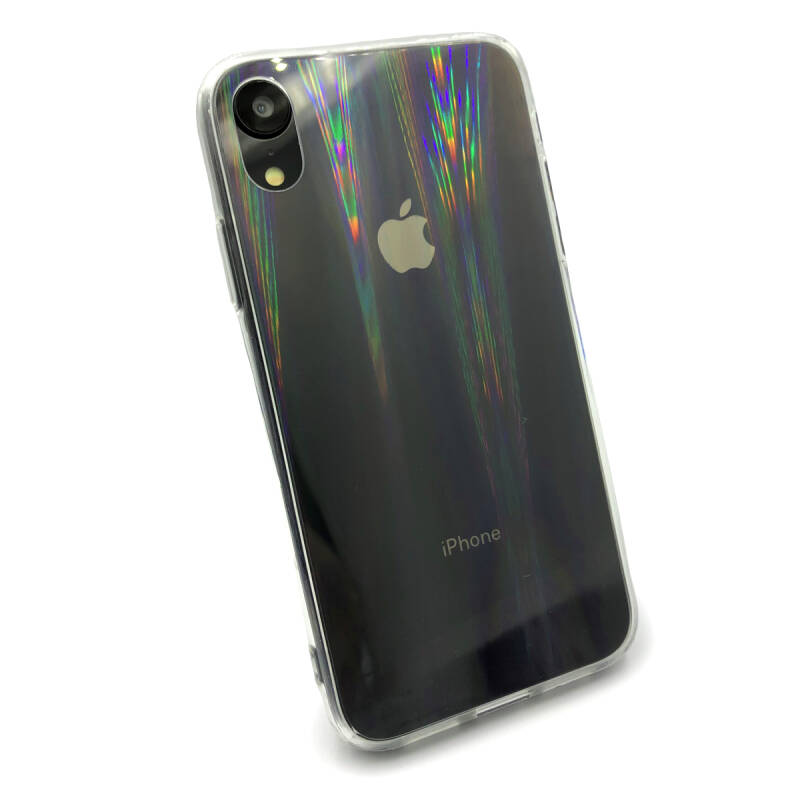 Clear Rainbow hoesje voor de iPhone XR - Transparant