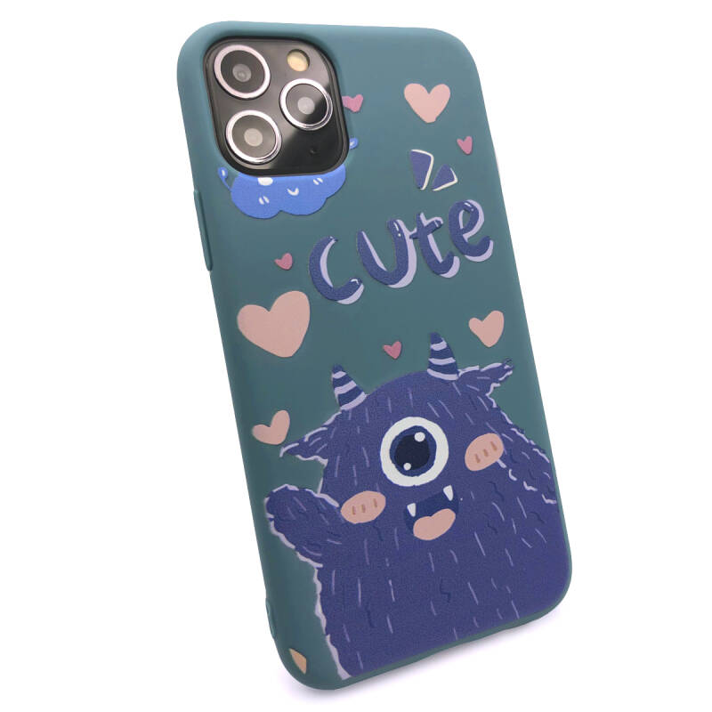 Cute Backcover voor de iPhone 11 Pro - Blauw