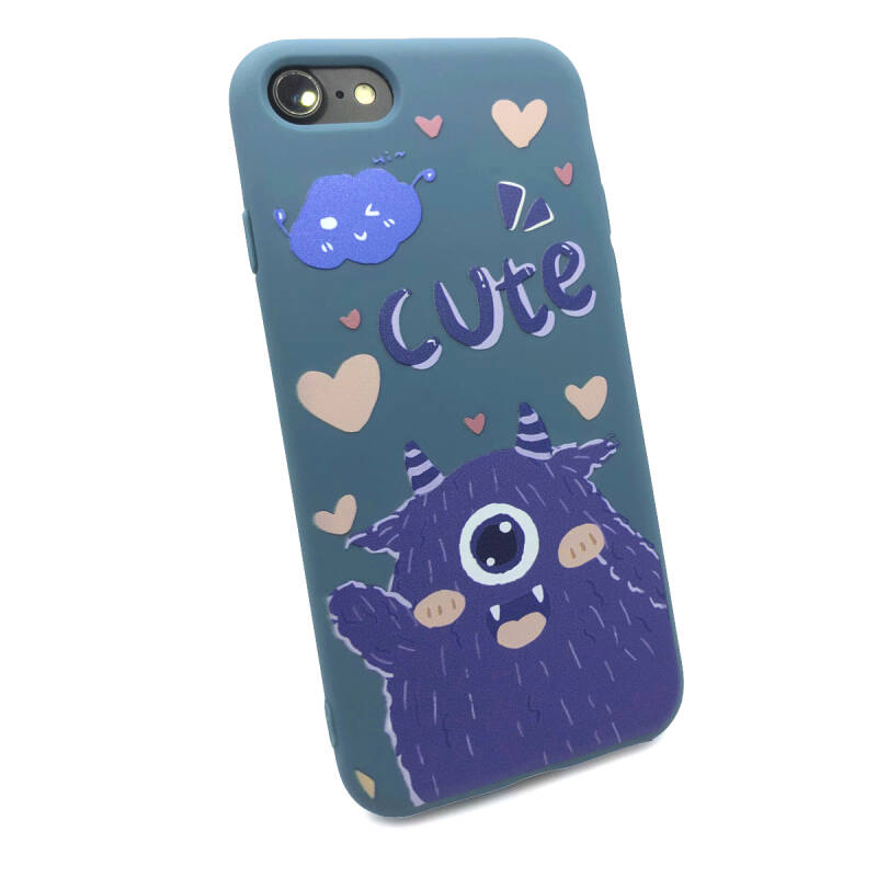 Cute Backcover voor de iPhone SE (2020) / 8 / 7 - Blauw