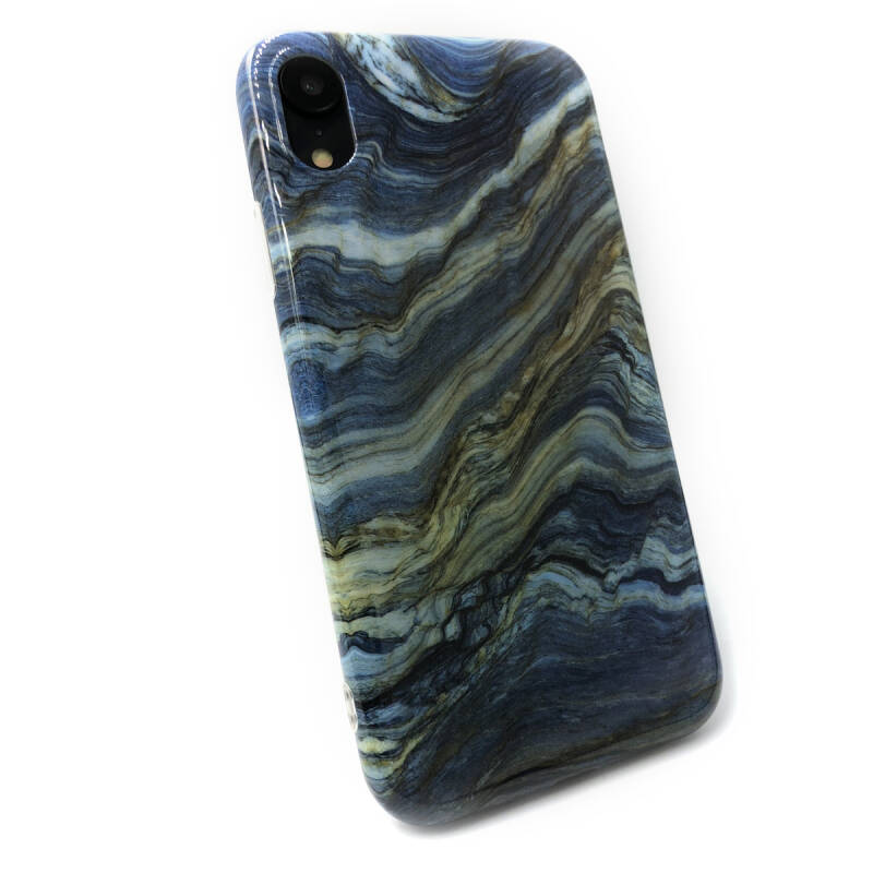 Marmer Backcover voor de iPhone XR - Blauw