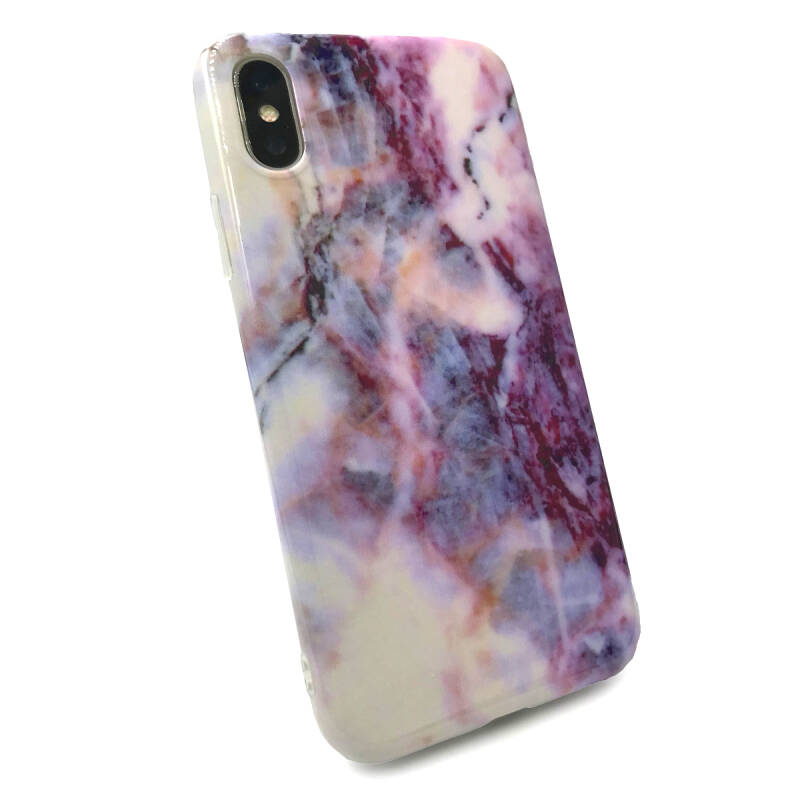 Marmer Backcover voor de iPhone X / Xs - Paars